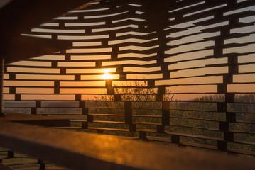 Sunset see-through church Borgloon
