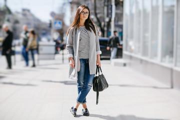 beautiful young fashion girl