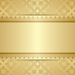 gold pattern with ornament and gradient - vector