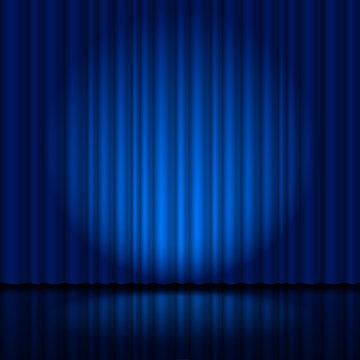 Fragment dark blue stage curtain