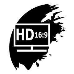 HD display black icon.