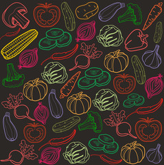 Vector vegetables background