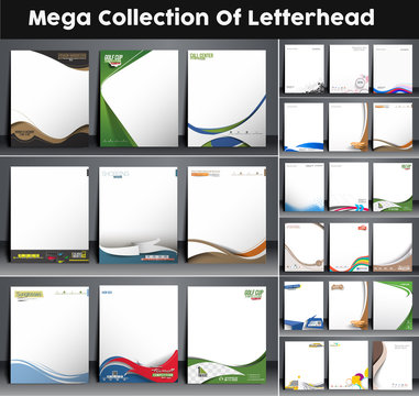 Mega Collection of Corporate Identity Leterhead Template.