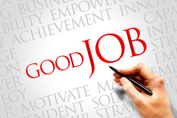 Good Job word cloud, business concept