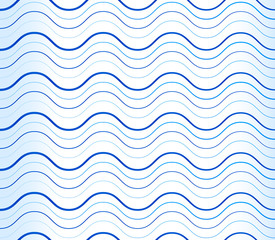Abstract background, pattern with wavy, waving blue lines. Can b