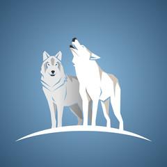 Geometric white wolfs