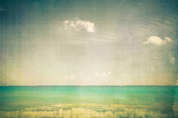 Spoed Fotobehang Retro Ocean with vintage texture effect
