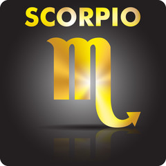 Astrology. Scorpio. Astrological sign from gold.