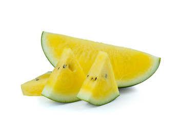 Yellow watermelon  sliced