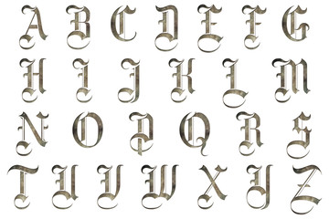medieval gothic alphabet collection