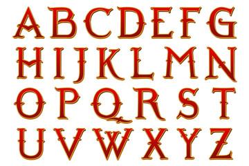 fantasy land Narnia alphabet collection