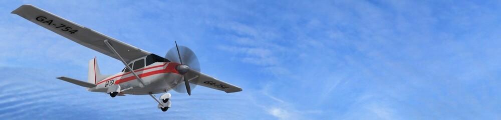 most popular single propeller light aircraft in fly  Fototapete