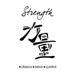 Chinese character calligraphy for strength or power
