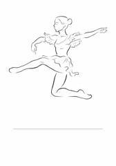 Ballerina. Dancer silhouette. Vector illustration