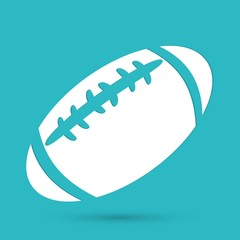 american football icon isolated on blue background