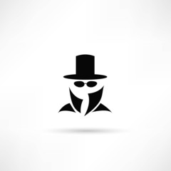 Man in suit. Secret service agent icon