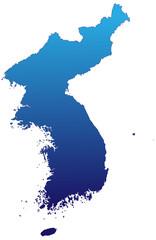 Korea in Blau