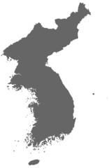 Korea in Grau