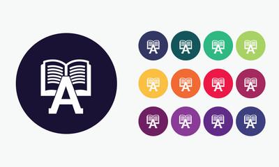 Book set icon - Vector