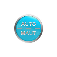 Button Türkis - Auto Maut