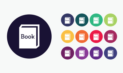 Book set icon - Education vector