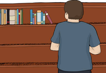 Male Looking at Books