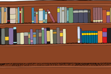 Shelf with Two Rows of Books