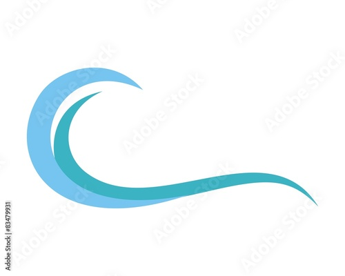 blue wave logo template v 2 stock image and royalty free vector rh fotolia com  ocean wave logo free download