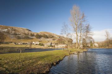 English countryside scene with lake
