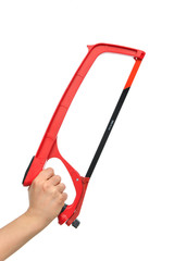 Red Hand saw for wood and metal cutting