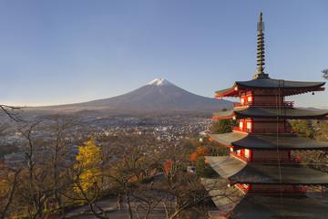 Keuken foto achterwand Bedehuis Chureito Pagoda in Fujiyoshida, Japan