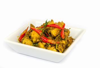 Chicken curry .