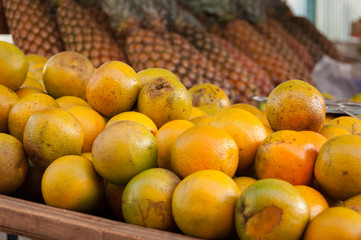 Fresh Oranges for Sale at the Market in Rio de Janeiro