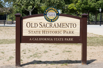 Old Sacramento historic state park sign