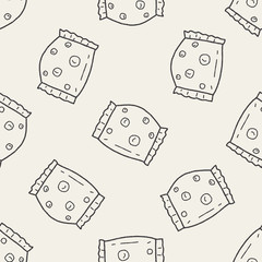 candy doodle seamless pattern background