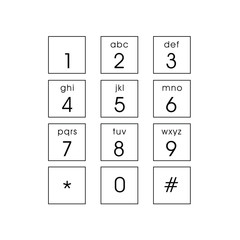 abstract flat user interface keypad