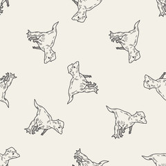 dinosaur doodle seamless pattern background