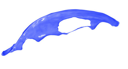 Photo sur Aluminium Dauphins Blue splash isolated on white background
