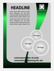 Business Background Flyer Template - Vector Design Concept