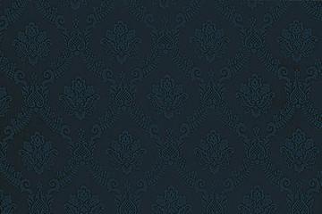 Luxury blue floral wallpaper