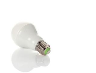 LED energy saving bulb on white background.