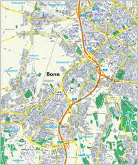 City Map Bonn