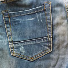back pocket of blue jeans fashion