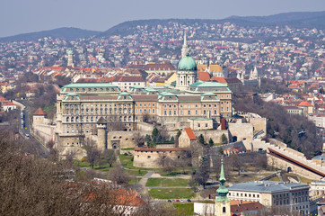 Royal palace in Budapest, Hungary