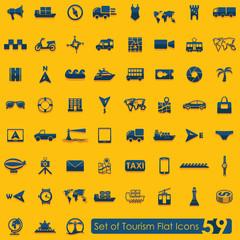 Set of tourism icons