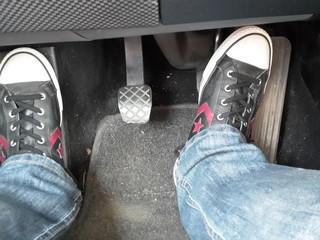 Pedale im Auto