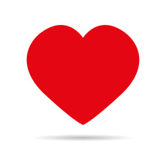 Heart red icon vector illustration