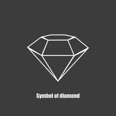 Background with Diamond symbol vector illustration