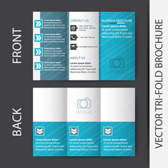 Business tri fold flyer template, brochure or cover design
