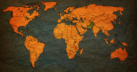pakistan territory on world map